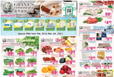 Grant's Food Mart Flyer February 26 to March 4