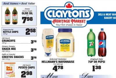 Claytons Heritage Market Flyer February 26 to March 4
