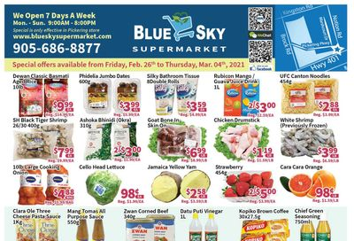 Blue Sky Supermarket (Pickering) Flyer February 26 to March 4
