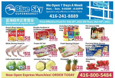 Blue Sky Supermarket (North York) Flyer February 26 to March 4