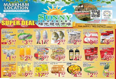 Sunny Foodmart (Markham) Flyer February 26 to March 4