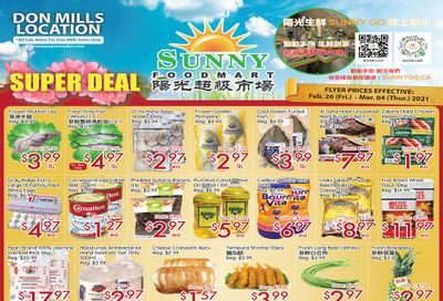Sunny Foodmart (Don Mills) Flyer February 26 to March 4