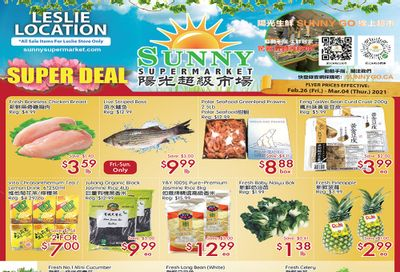 Sunny Supermarket (Leslie) Flyer February 26 to March 4