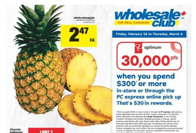 Real Canadian Wholesale Club Flyer February 26 to March 4