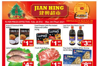Jian Hing Supermarket (North York) Flyer February 26 to March 4