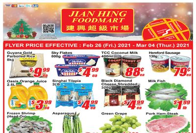 Jian Hing Foodmart (Scarborough) Flyer February 26 to March 4