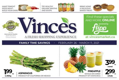 Vince's Market Flyer February 26 to March 11