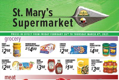 St. Mary's Supermarket Flyer February 26 to March 4