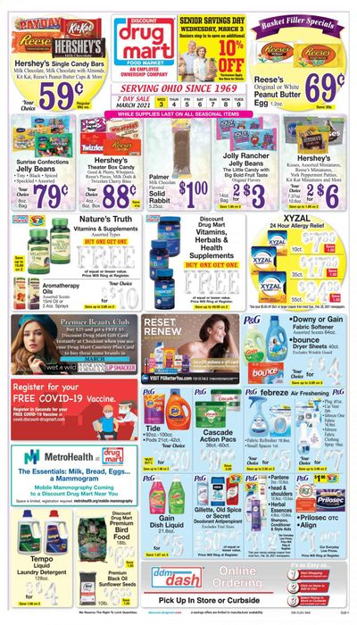 Discount Drug Mart (OH) Weekly Ad Flyer March 3 to March 9