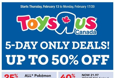 Toys R Us Flyer February 13 to 17
