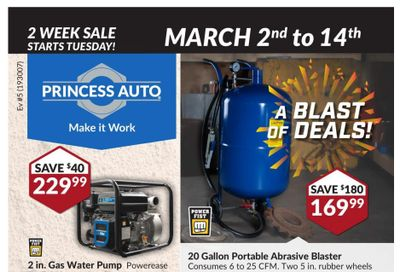 Princess Auto Flyer March 2 to 14