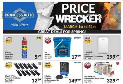 Princess Auto Price Wrecker Flyer March 1 to 31
