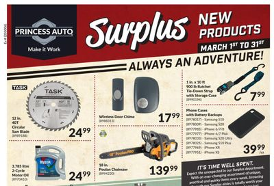 Princess Auto Surplus New Products Flyer March 1 to 31