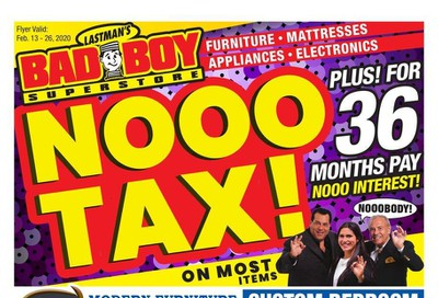 Lastman's Bad Boy Superstore Flyer February 13 to 26