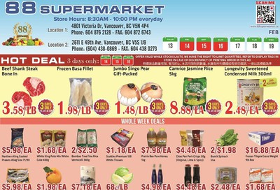 88 Supermarket Flyer February 13 to 19