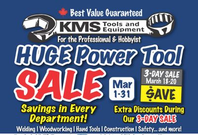 KMS Tools and Equipment Flyer March 1 to 31