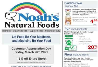 Noah's Natural Foods Flyer March 1 to 31