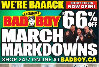 Lastman's Bad Boy Superstore Flyer March 1 to 10