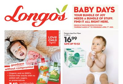Longo's Baby Days Flyer March 4 to April 7