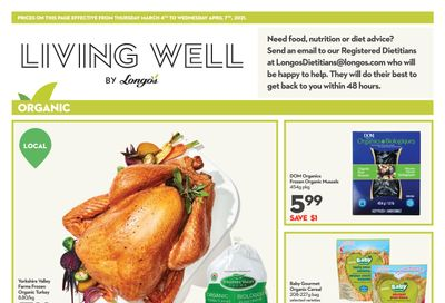 Longo's Living Well Flyer March 4 to April 7