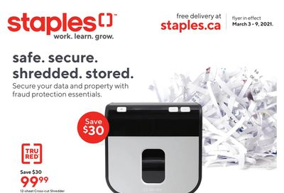 Staples Flyer March 3 to 9