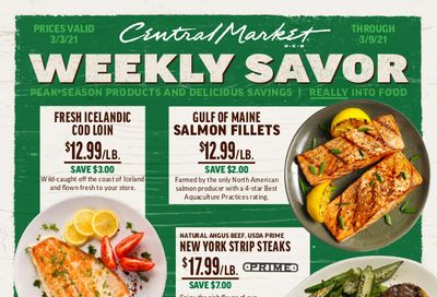 Central Market Weekly Ad Flyer March 3 to March 9, 2021