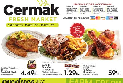 Cermak Fresh Market (IL) Weekly Ad Flyer March 3 to March 9, 2021