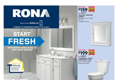 Rona (West) Flyer March 4 to 10