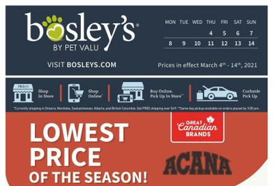Bosley's by PetValu Flyer March 4 to 14