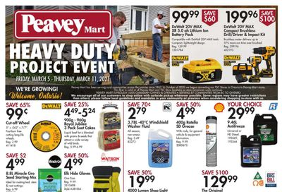 Peavey Mart Flyer March 5 to 11