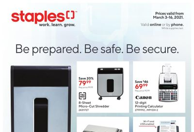 Staples Business Flyer March 3 to 16