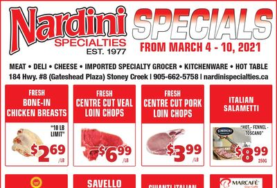 Nardini Specialties Flyer March 4 to 10