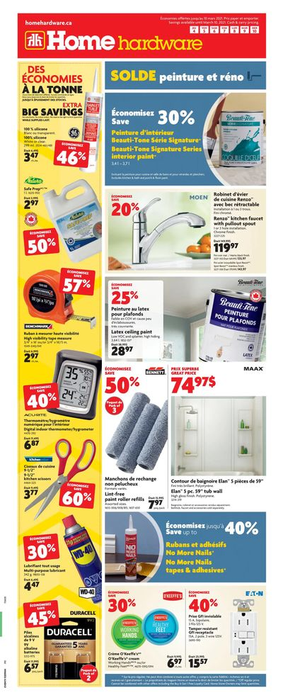 Home Hardware (QC) Flyer March 4 to 10