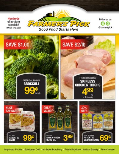 Farmer's Pick Flyer March 4 to 10