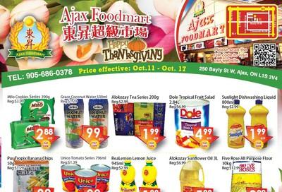 Ajax Foodmart Flyer October 11 to 17