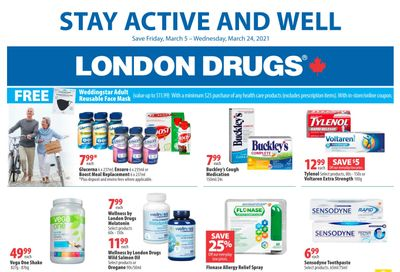 London Drugs Stay Active and Well Flyer March 5 to 24