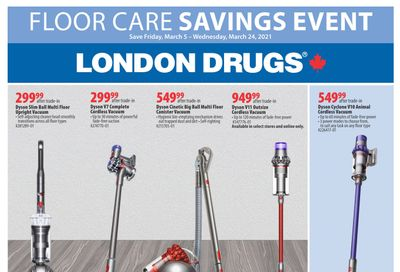 London Drugs Floor Care Savings Event Flyer March 5 to 24
