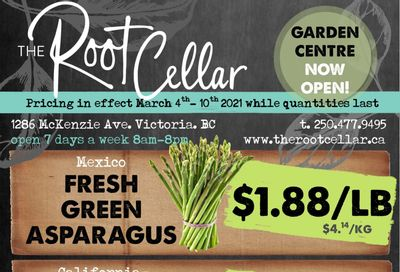 The Root Cellar Flyer March 4 to 10