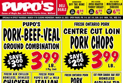 Pupo's Food Market Flyer March 4 to 10