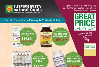 Community Natural Foods Flyer March 4 to 10