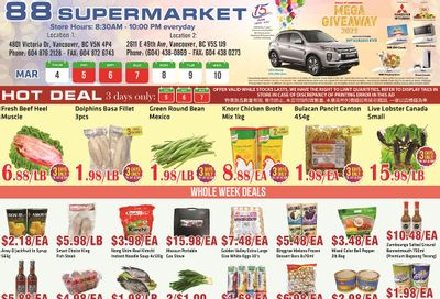 88 Supermarket Flyer March 4 to 10