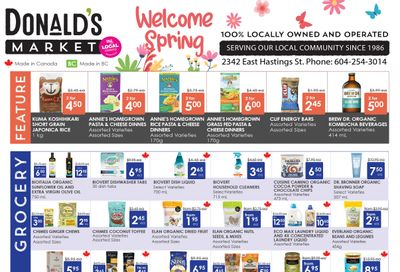 Donald's Market Flyer March 4 to 17