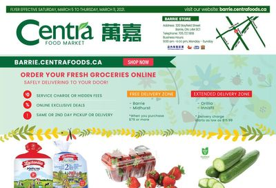 Centra Foods (Barrie) Flyer March 5 to 11