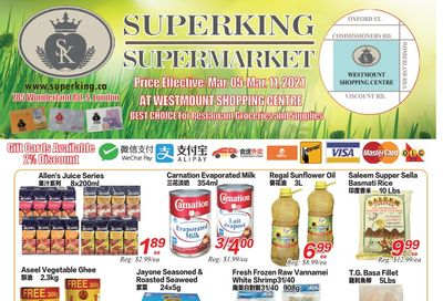 Superking Supermarket (London) Flyer March 5 to 11