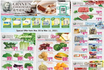 Grant's Food Mart Flyer March 5 to 11