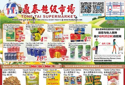 Tone Tai Supermarket Flyer March 5 to 11
