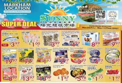 Sunny Foodmart (Markham) Flyer March 5 to 11