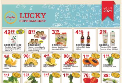 Lucky Supermarket (Calgary) Flyer March 5 to 11