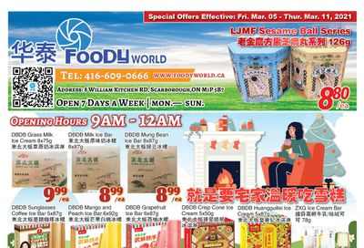 Foody World Flyer March 5 to 11
