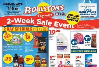 Roulston's Pharmacy Flyer February 14 to 27